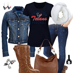 Houston Texans Jean Jacket Outfit