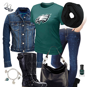 Philadelphia Eagles Jean Jacket Outfit