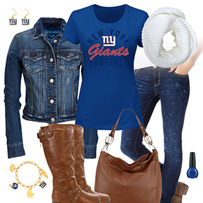 New York Giants Jean Jacket Outfit