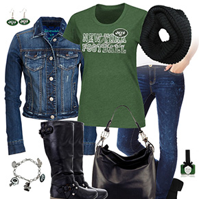 New York Jets Jean Jacket Outfit