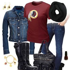 Washington Redskins Jean Jacket Outfit