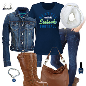 Seattle Seahawks Jean Jacket Outfit