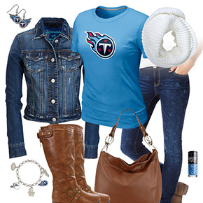 Tennessee Titans Jean Jacket Outfit