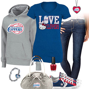 Los Angeles Clippers Hello Kitty Tshirt