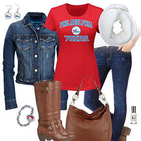Philadelphia 76ers Jean Jacket Outfit