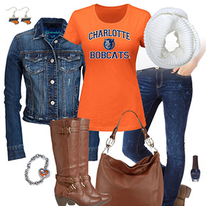 Charlotte Bobcats Jean Jacket Outfit