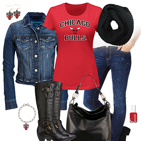 Chicago Bulls Jean Jacket Outfit