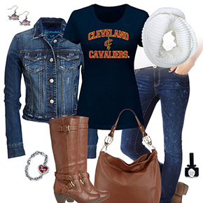 Cleveland Cavaliers Jean Jacket Outfit