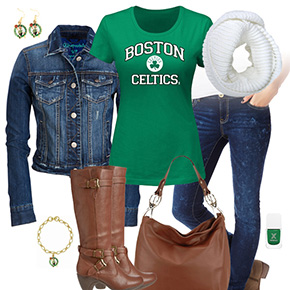 Boston Celtics Jean Jacket Outfit