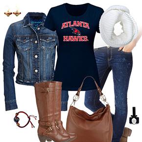 Atlanta Hawks Jean Jacket Outfit