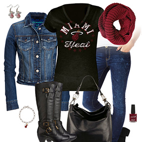 Miami Heat Jean Jacket Outfit