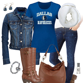 Dallas Mavericks Jean Jacket Outfit