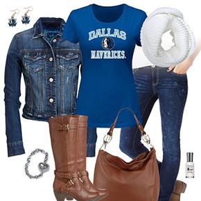 Dallas Mavericks Jean Jacket Outfit