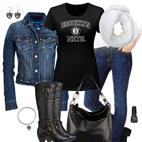 Brooklyn Nets Jean Jacket Outfit