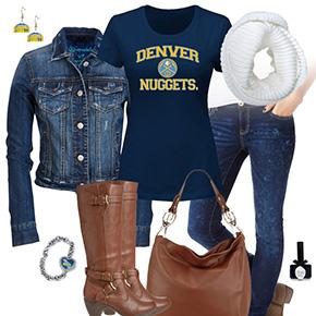 Denver Nuggets Jean Jacket Outfit