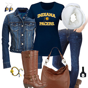 Indiana Pacers Jean Jacket Outfit