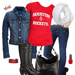 Houston Rockets Jean Jacket Outfit