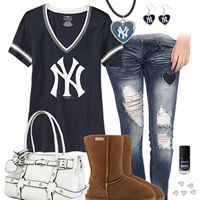 Cute New York Yankees Tshirt