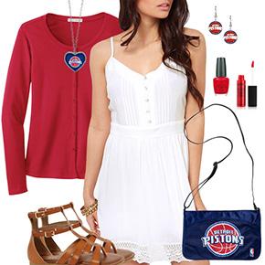 Detroit Pistons Dress Outfit