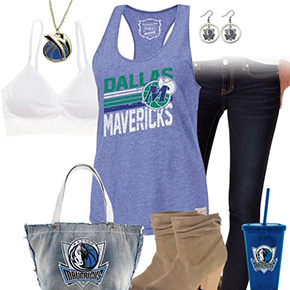 Dallas Mavericks Tank Top Outfit