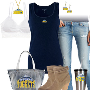 Denver Nuggets Tank Top Outfit