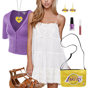Los Angeles Lakers Dress Outfit
