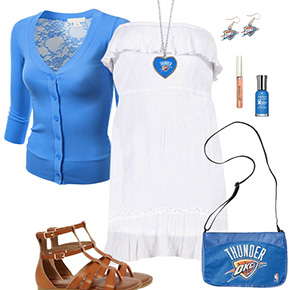Oklahoma City Thunder Dress Outfit