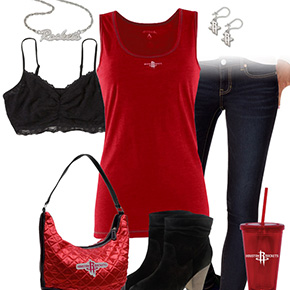 Houston Rockets Tank Top Outfit