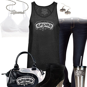 San Antonio Spurs Tank Top Outfit