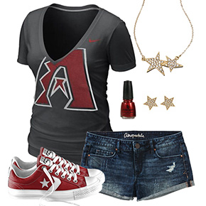 Arizona Diamondbacks Outfit With Converse