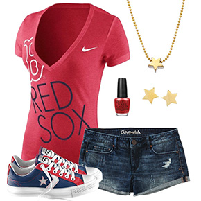 Boston Red Sox Outfit With Converse