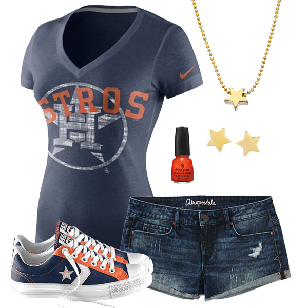 Houston Astros Outfit With Converse