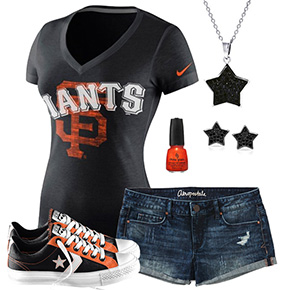 San Francisco Giants Outfit With Converse