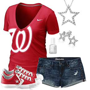 Washington Nationals Outfit With Converse