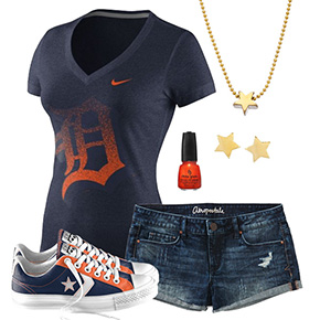 Detroit Tigers Outfit With Converse