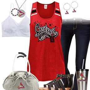 St. Louis Cardinals Tank Top Outfit