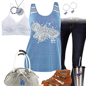 Los Angeles Dodgers Tank Top Outfit