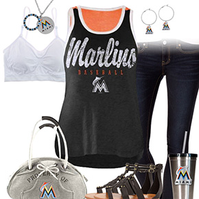 Miami Marlins Tank Top Outfit