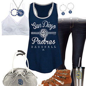 San Diego Padres Tank Top Outfit