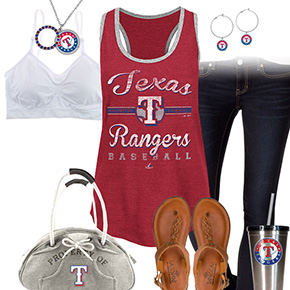Texas Rangers Tank Top Outfit