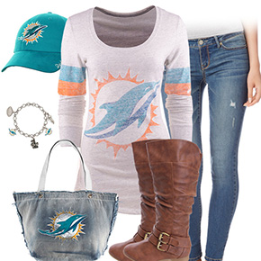Miami Dolphins Inspired Outfit