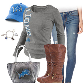 Detroit Lions Inspired Outfit