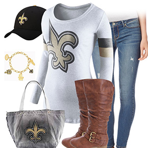 New Orleans Saints Inspired Outfit