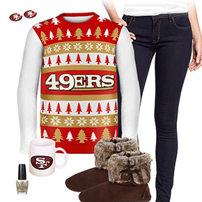 San Francisco 49ers Sweater Outfit