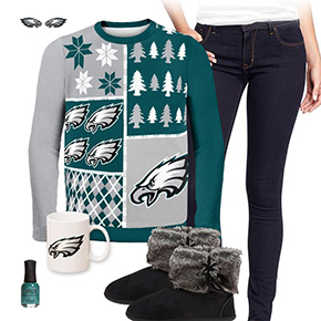 Philadelphia Eagles Sweater Outfit