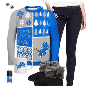 Detroit Lions Sweater Outfit