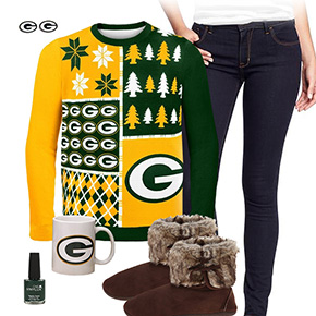 Green Bay Packers Sweater Outfit