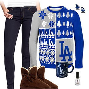 Los Angeles Dodgers Sweater Outfit