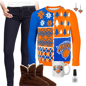 New York Knicks Sweater Outfit