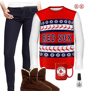 Boston Red Sox Sweater Outfit